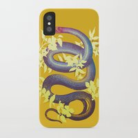 snake iPhone & iPod Cases featuring Snake by The Wildest Little Things