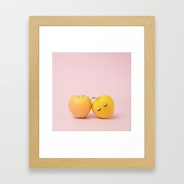 You can lean on me Framed Art Print