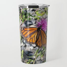 MONARCH BUTTERFLY ON FLOWER Travel Mug