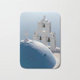 Santorini Church, Greece Bath Mat