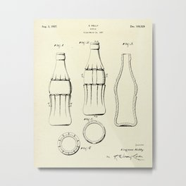Coca Cola Bottle-1937 Metal Print