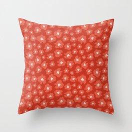 Camofloral Orange Throw Pillow