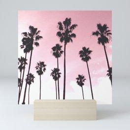Palms & Sunset Mini Art Print
