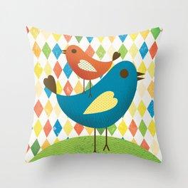 chirp chirp Throw Pillow
