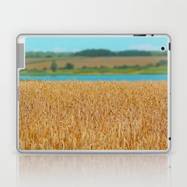 Golden Corn by the Turquoise Water Laptop & iPad Skin