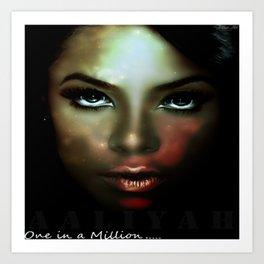 Aaliyah - One in a Million Art Print