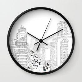 Gran Vía, Madrid Wall Clock