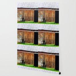 Open Barn Door Wallpaper