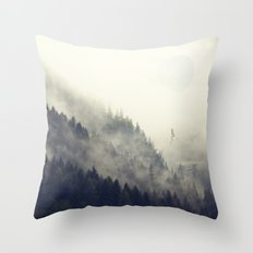 Forest Moon Throw Pillow