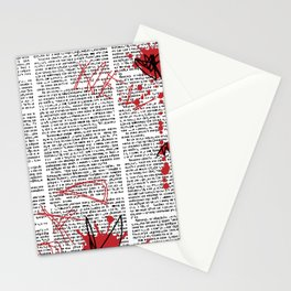 Hebrew News Papper Stationery Cards