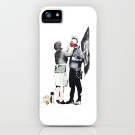 Banksy, Punk with mother iPhone Case