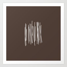 Wood in Brown - Minimalist Feng Shui - by Friztin Art Print