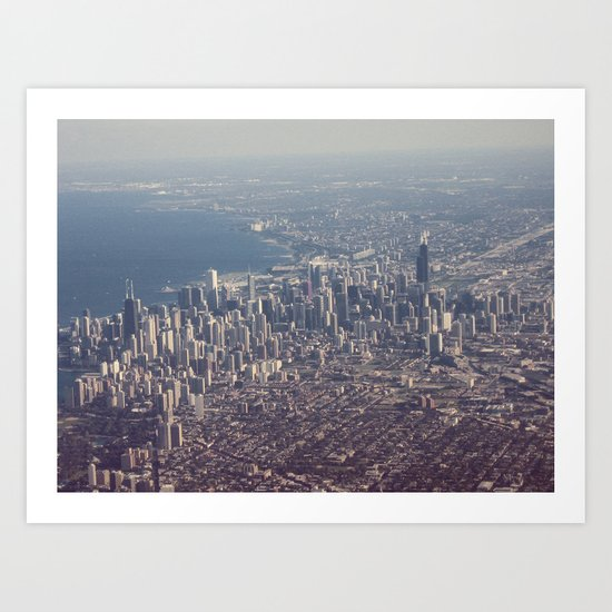 Chicago From The Sky Color Photo Art Print