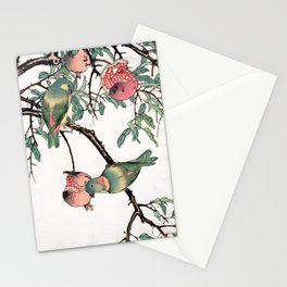 Pomegranate and Lovebirds Stationery Cards