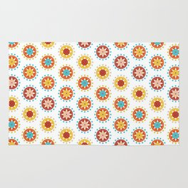 Casino Chip Pattern Rug
