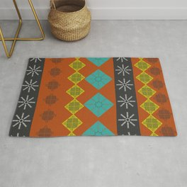 Comfy wintry shapes Rug