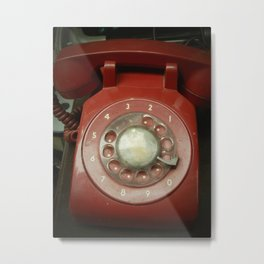 Red Phone Metal Print