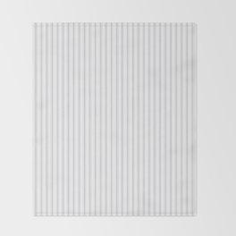 Soft Grey Mattress Ticking Narrow Striped Pattern - Fall Fashion 2018 Throw Blanket