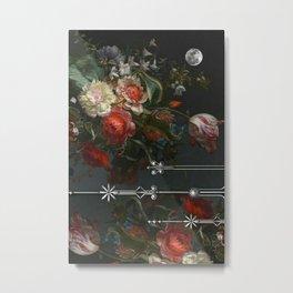 Scarlet Victorian Moon Metal Print