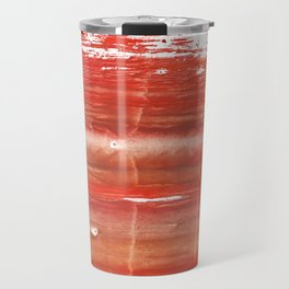 Rowan red stained watercolor texture Travel Mug