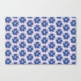 Salvia hispanica, blue pattern Canvas Print