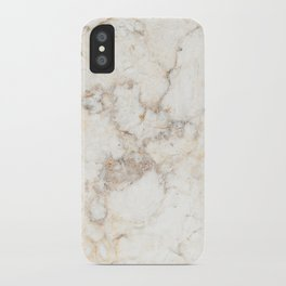 Marble Natural Stone Grey Veining Quartz iPhone Case