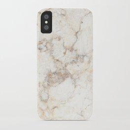 Marble Natural Stone Grey Veining Quartz iPhone Case