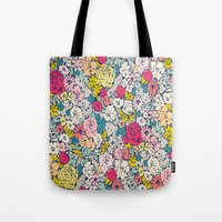 vintage flowers Tote Bags featuring Vintage flowers by Love2Snap