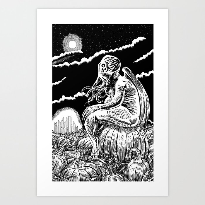 It's the Great Cthulhu! Art Print