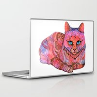stickers Laptop & iPad Skins featuring SUNSET CAT by Ola Liola