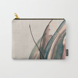 Slow Burn: a pretty, minimal, abstract mixed media piece using watercolor and ink Carry-All Pouch