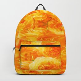 MODERN  GOLDEN ROSES FLOWERS CARPET Backpack