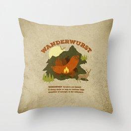 WanderWurst Throw Pillow