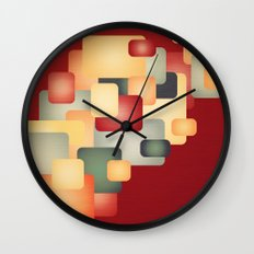 A Warm Retro Feeling. Wall Clock