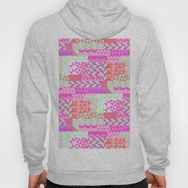 Modern Abstract Geometrical Magenta Pink Mint Green Pattern Hoody