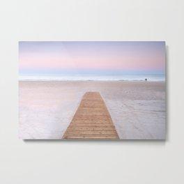 Serenity Ocean. Barrosa beach. Cadiz Metal Print
