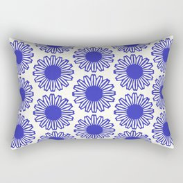 vintage flowers blue  Rectangular Pillow