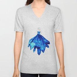 Light Blue Crystal Unisex V-Neck