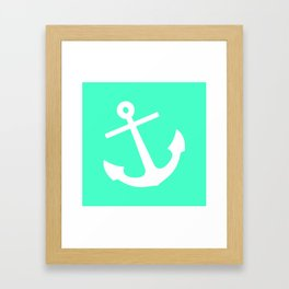 Mint Anchor Framed Art Print