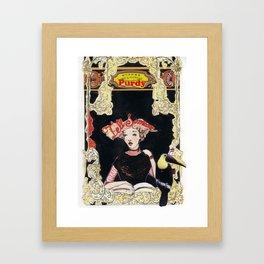 Purdy Lady Framed Art Print