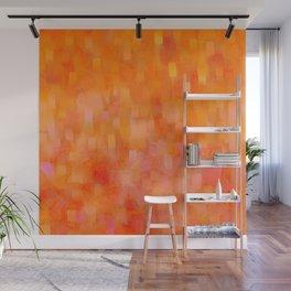 Citrus Hued Abstract Wall Mural
