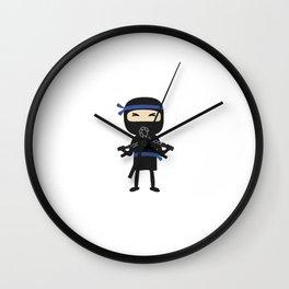ninja with weapon Wall Clock