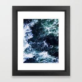 Wild ocean waves Framed Art Print
