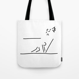 100 metre sprint athletics start Tote Bag