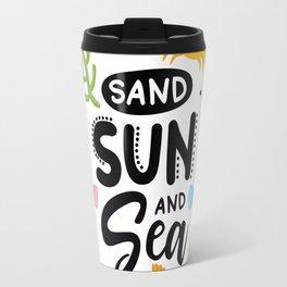 Sand, Sun and Sea Travel Mug
