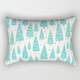 Pastel Christmas Tree Forest Rectangular Pillow