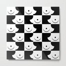 Streapchess_01 | Black and White Metal Print
