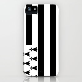 Flag of brittany iPhone Case