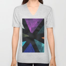 Intersection Triangles / Dennis Weber / ShreddyStudio Unisex V-Neck