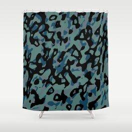 blue camo Shower Curtain